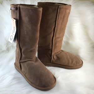 Emu Wool Tall Brown/Tan Boots Size 8